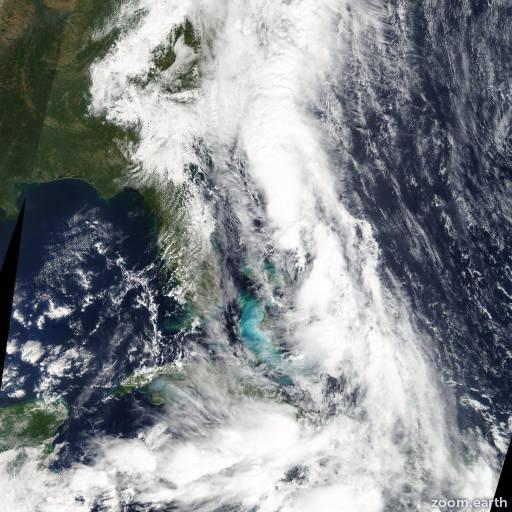 Satellite image of Storm Nicole 2010