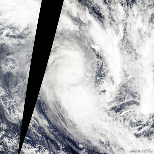 Satellite image of Cyclone Oli 2010