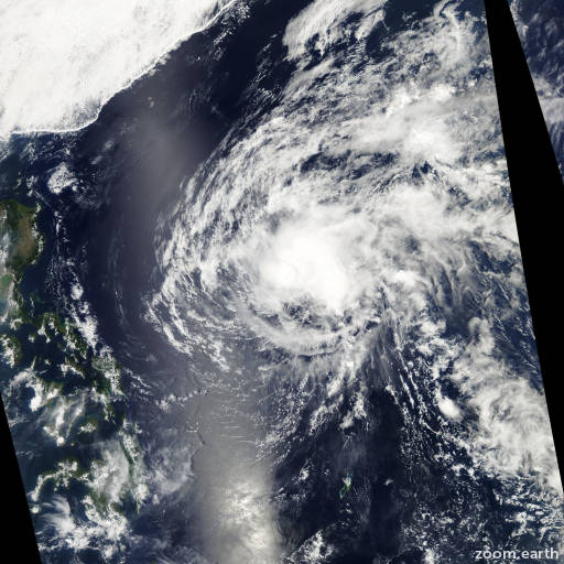 Satellite image of Storm Omais 2010