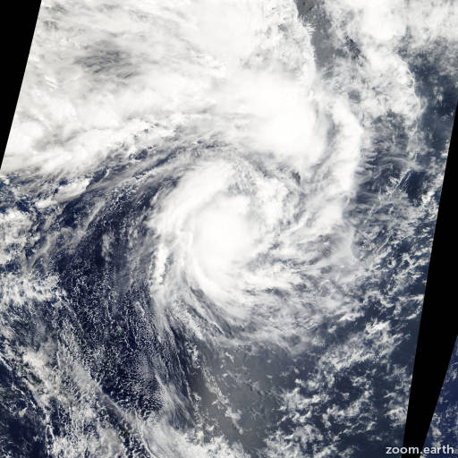 Satellite image of Cyclone Rene 2010