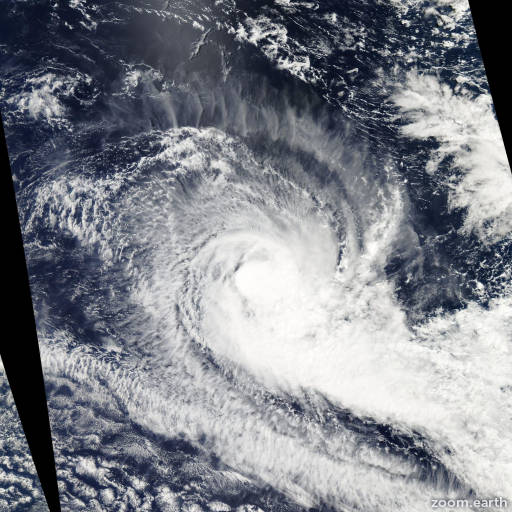 Satellite image of Cyclone Robyn 2010