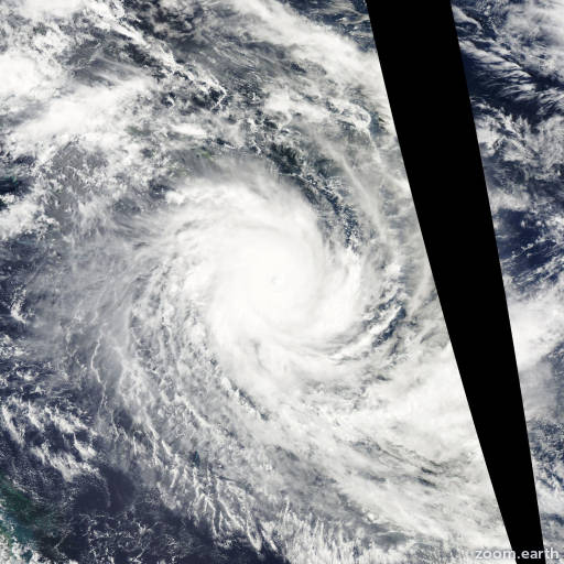 Satellite image of Cyclone Ului 2010