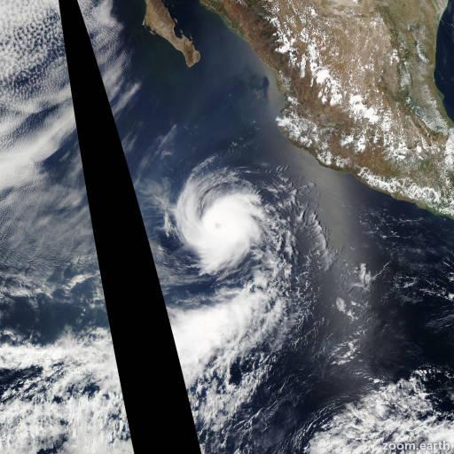 Satellite image of Hurricane Adrian 2011