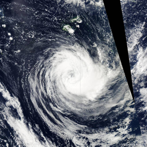 Satellite image of Cyclone Bune 2011