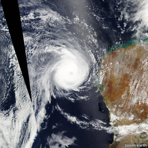 Satellite image of Cyclone Carlos 2011