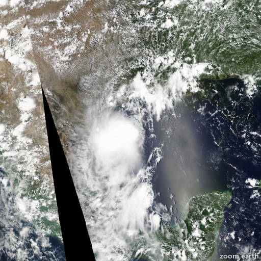 Satellite image of Storm Don 2011