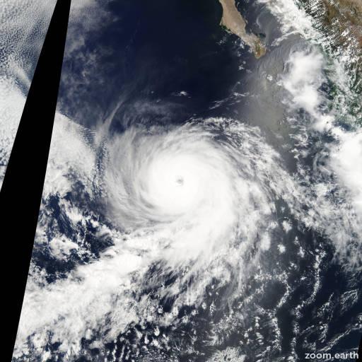 Satellite image of Hurricane Eugene 2011