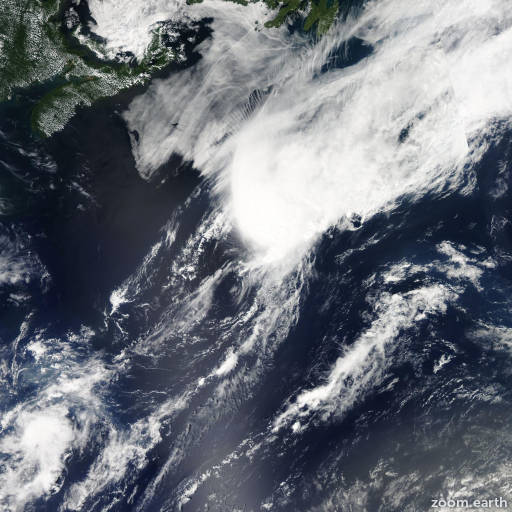 Satellite image of Storm Franklin 2011