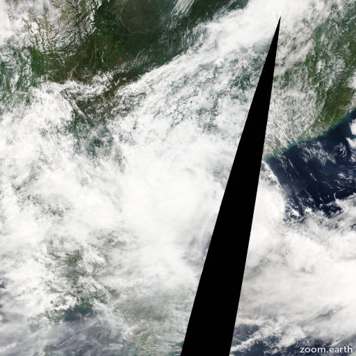 Satellite image of Storm Haima 2011