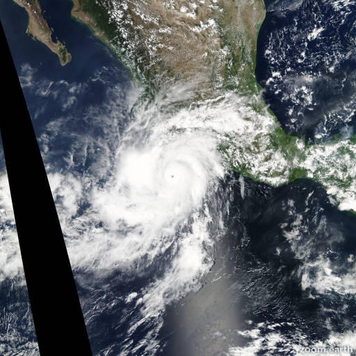 Satellite image of Hurricane Hilary 2011
