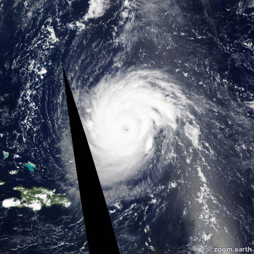 Satellite image of Hurricane Katia 2011