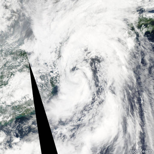 Satellite image of Storm Meari 2011