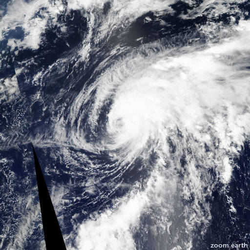 Satellite image of Typhoon Merbok 2011