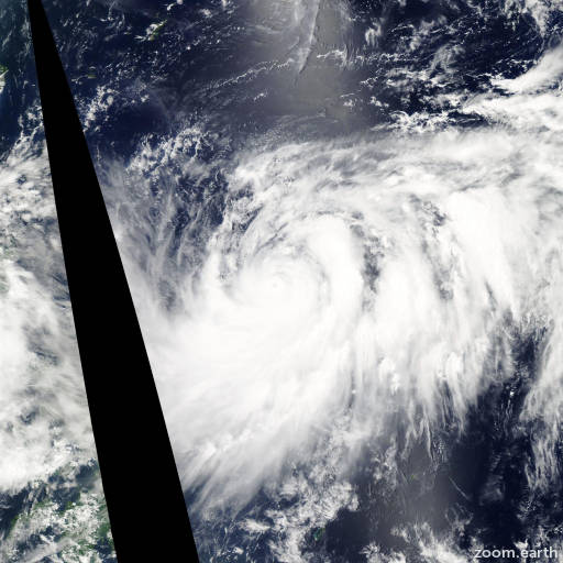 Satellite image of Typhoon Muifa 2011