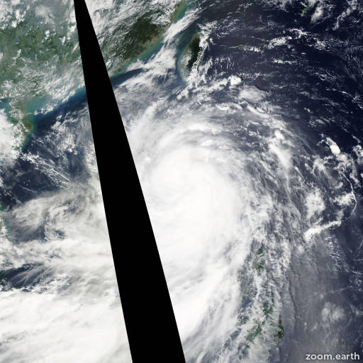 Satellite image of Typhoon Nesat 2011