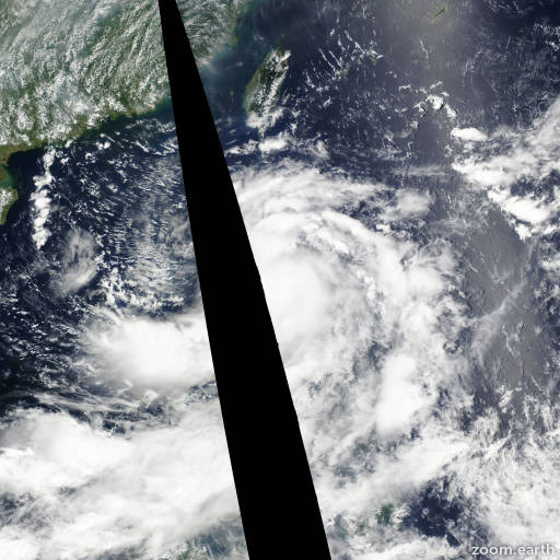 Satellite image of Storm Nock-Ten 2011