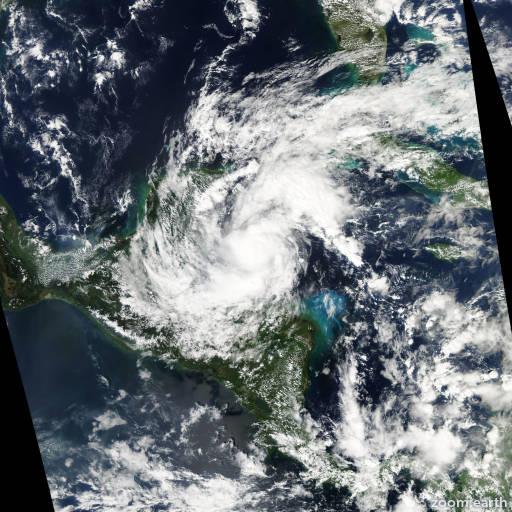 Satellite image of Hurricane Rina 2011