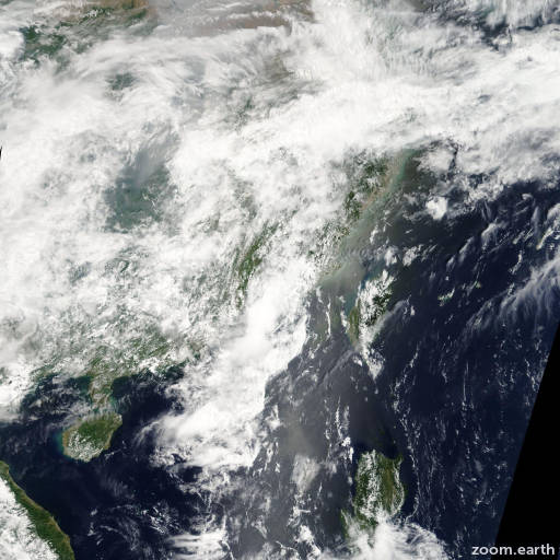 Satellite image of Depression Sarika 2011