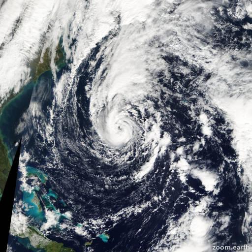 Satellite image of Storm Sean 2011