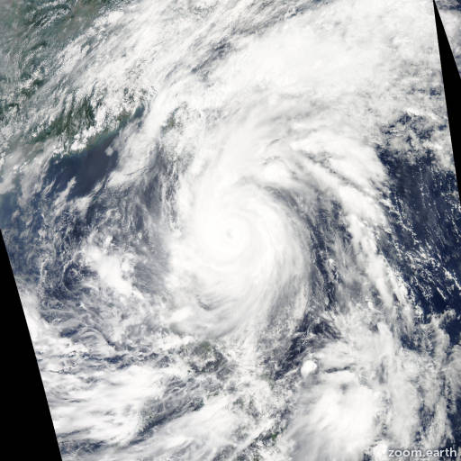 Satellite image of Typhoon Songda 2011