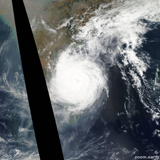Satellite image of Cyclone Thane 2011