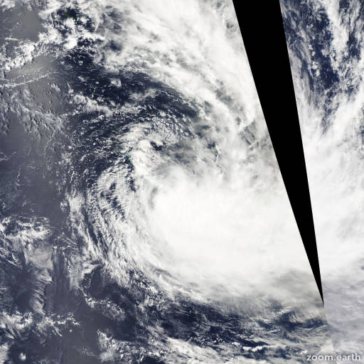 Satellite image of Cyclone Vania 2011
