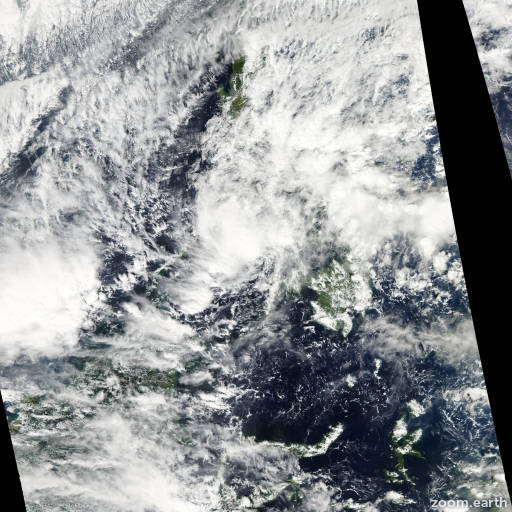 Satellite image of Storm Washi 2011