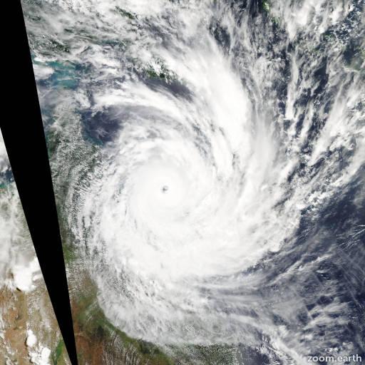 Satellite image of Cyclone Yasi 2011