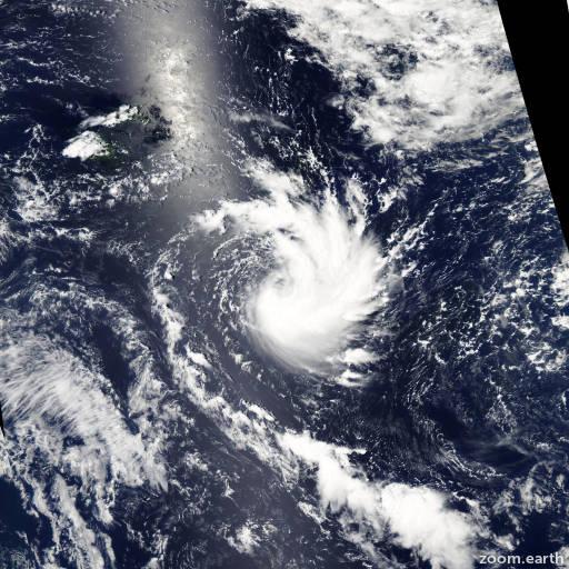 Satellite image of Cyclone Zaka 2011