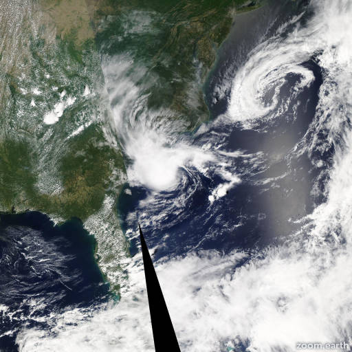 Satellite image of Storm Alberto 2012