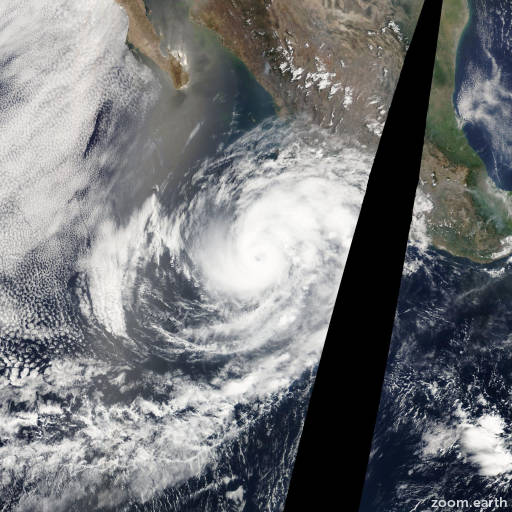 Satellite image of Hurricane Bud 2012