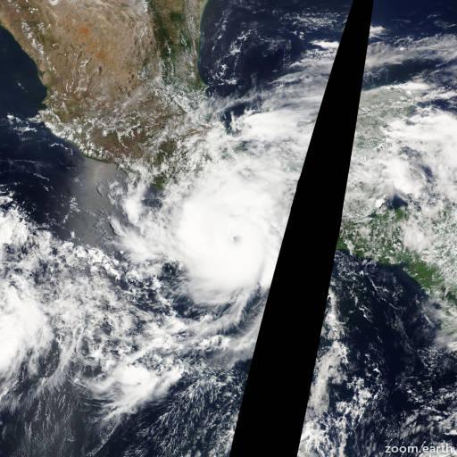 Satellite image of Hurricane Carlotta 2012