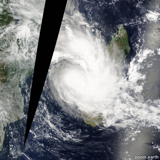Satellite image of Depression Chanda 2012