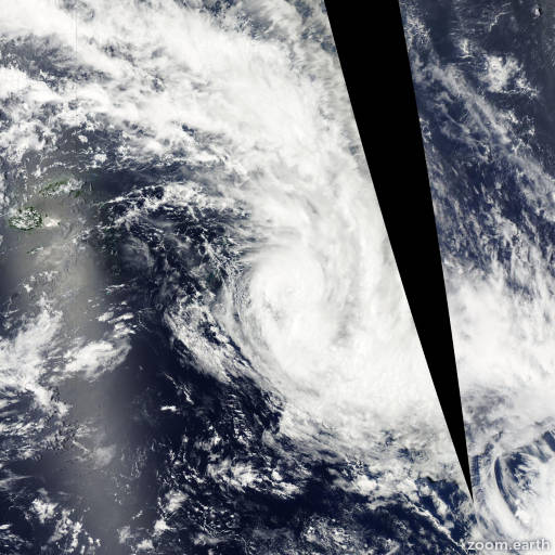 Satellite image of Cyclone Cyril 2012