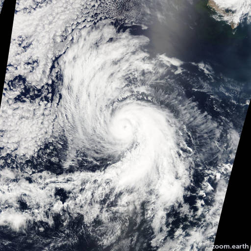 Satellite image of Hurricane Daniel 2012
