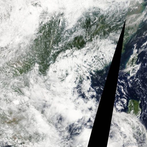 Satellite image of Storm Doksuri 2012