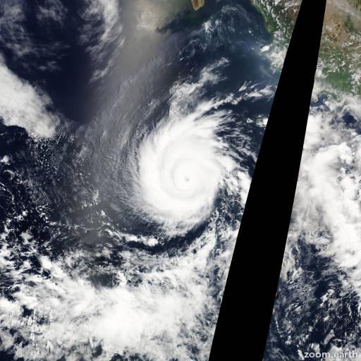 Satellite image of Hurricane Emilia 2012