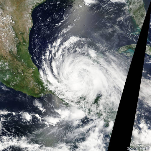 Satellite image of Hurricane Ernesto 2012