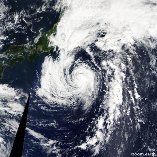 Satellite image of Storm Ewiniar 2012