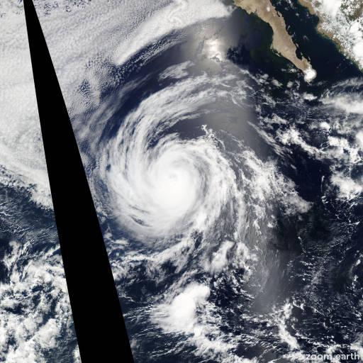Satellite image of Hurricane Fabio 2012