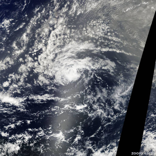Satellite image of Storm Florence 2012