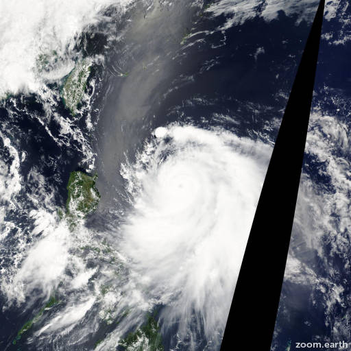 Satellite image of Typhoon Guchol 2012