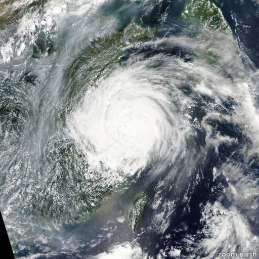 Satellite image of Storm Haikui 2012