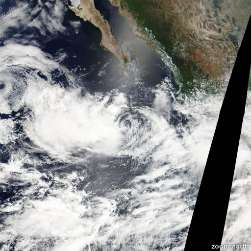 Satellite image of Storm Hector 2012