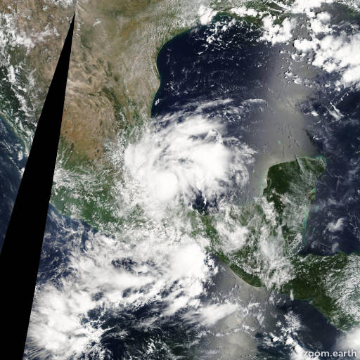 Satellite image of Storm Helene 2012