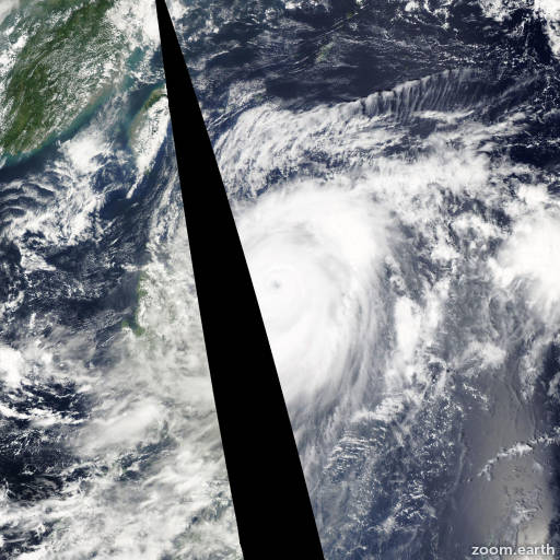 Satellite image of Typhoon Jelawat 2012