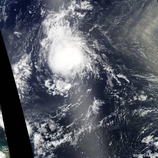 Satellite image of Storm Joyce 2012