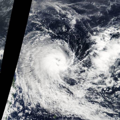 Satellite image of Storm Kuena 2012
