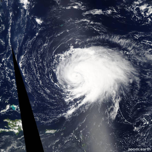 Satellite image of Hurricane Leslie 2012
