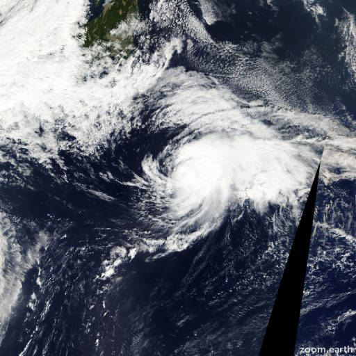Satellite image of Storm Maria 2012